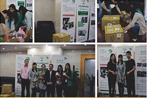 For supporting XING YUE benefit activity, employees from headquater denote their old clothes positively